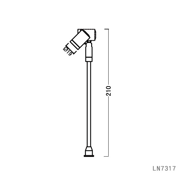Adjustable base 1W led mini jewelry pole showcase light LN7317