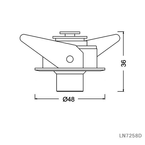 3W led eye ball cabinet spotlight lamp recessed for meseum lighting LN7258D