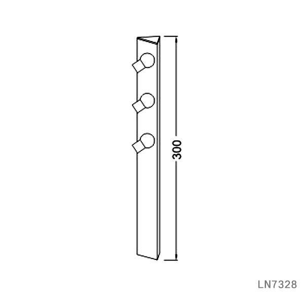 Tailor make black 3W led jewelry display cabinet light LN7328