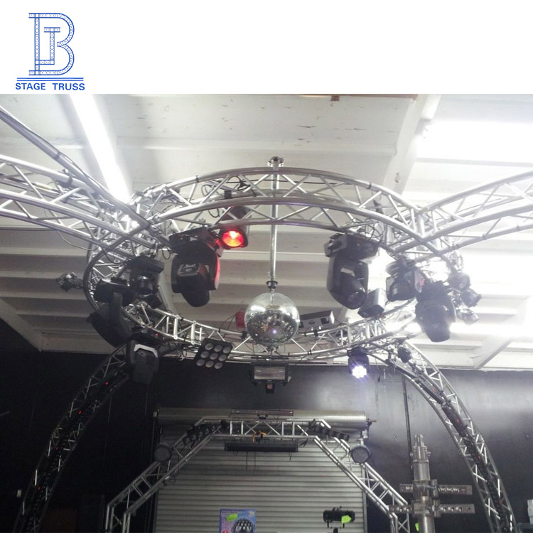 Outdoor Aluminum Customized Portable Decoration Small Stage Lighting Round Truss