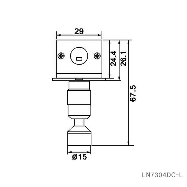 Aluminum DC12V recessed 5W LED under cabinet spotlight lamp