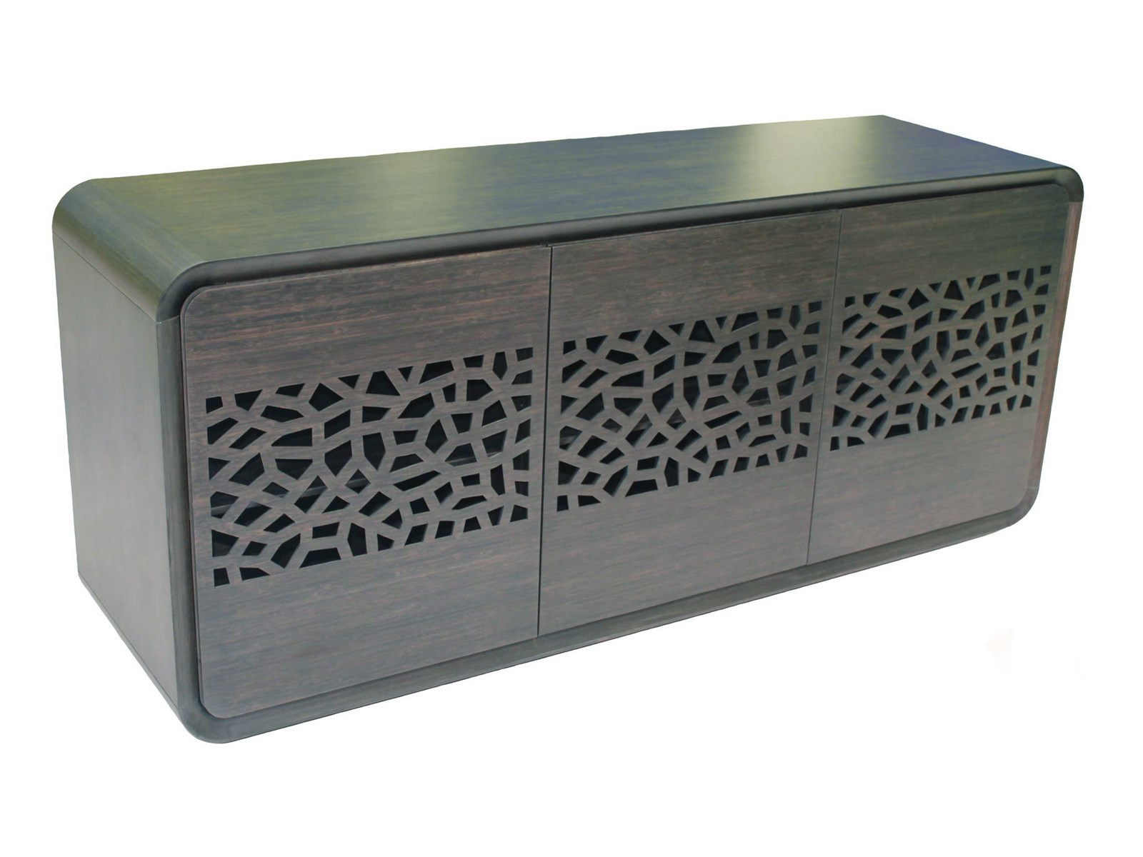 Beverly Solid Bamboo Buffet with carving door