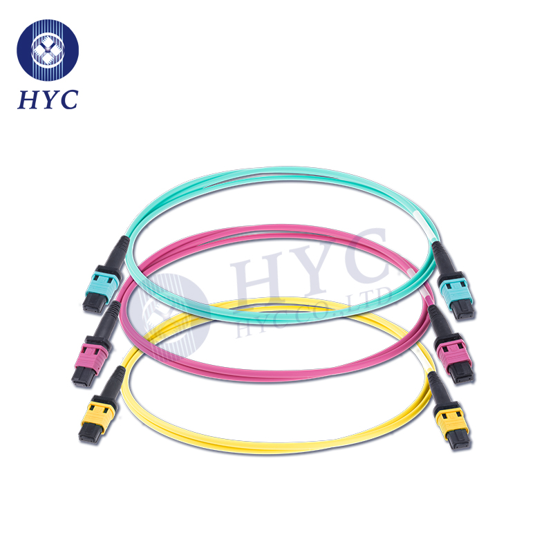 8 12 24 Cores MPOMTP Patch Cord OM2 OM3 OM4 Fiber Optic Cable Jumpers
