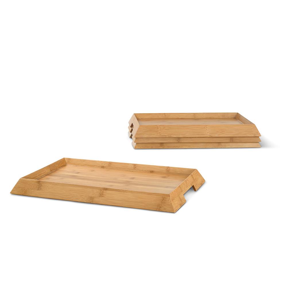 Modern design Maya Solid Bamboo Tray