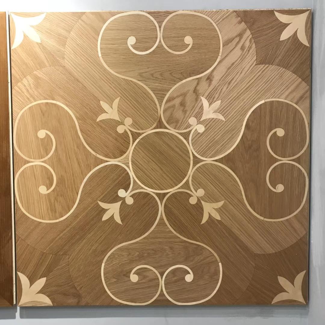 Curvilinear figure Parquet Oak Parquet Tiles