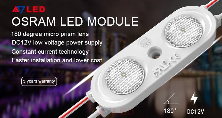 Shenzhen factory price high power 12v 2w outdoor 180 degree lens SMD 2835 led module light