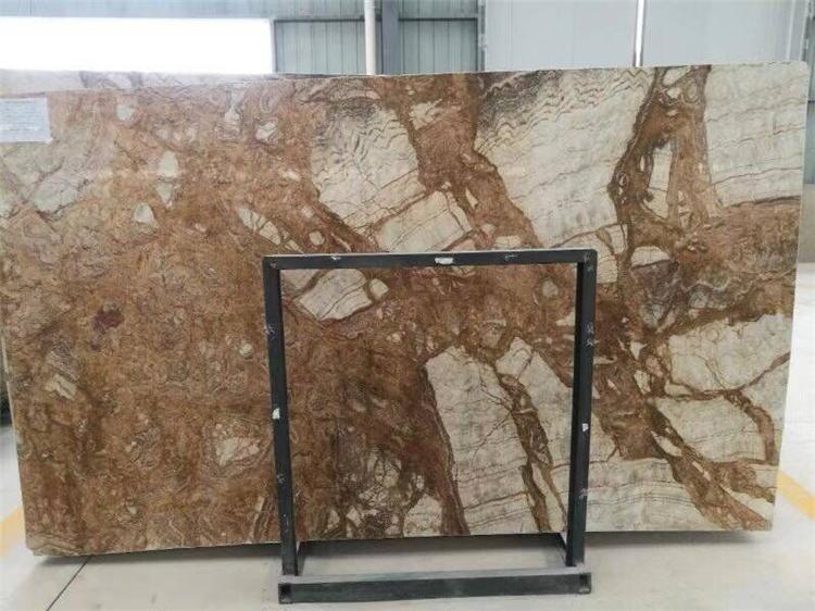 Chinese Fantasy Gold Marble Tile Slab