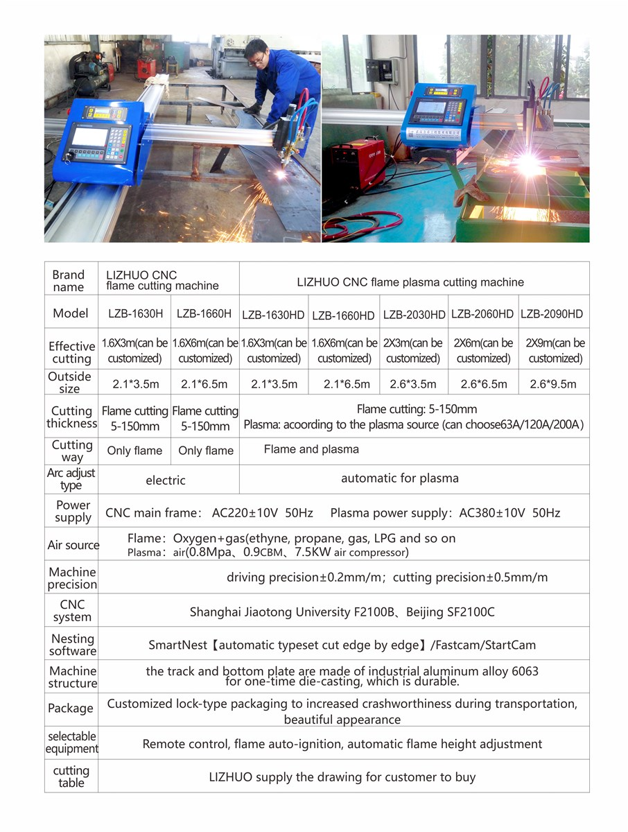 Professional Automatic China Supplier Portable CNC Plasma Flame Cutting Machine with Best AfterSell Service