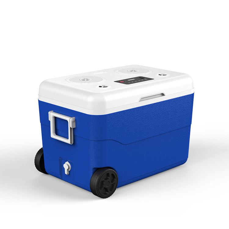 55 Liter Ice cooler with Speaker and Power Station Outdoor Camping Ice Chest Box