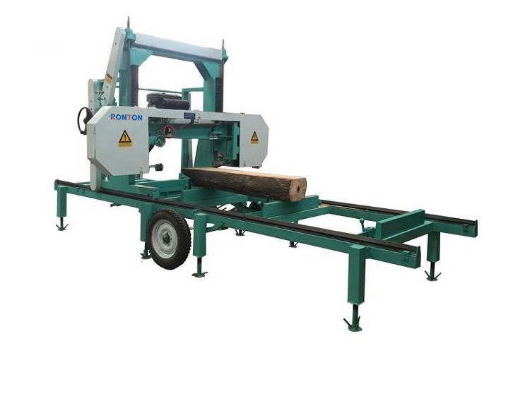 Portable Horizontal Band Sawmills Diesel Engine