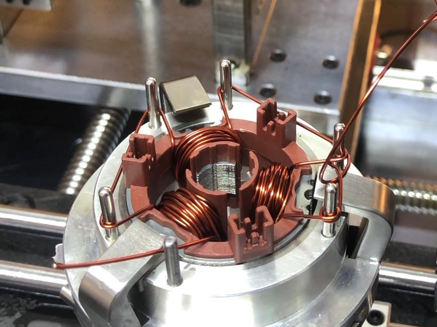Thin Wire Needle Winding Machine Small BLDC Motor Stator Four Station Muti Pole Winder