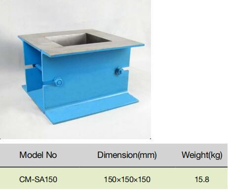 Concrete Test Cast IronSteelPlastic Cube Mould for Civil Engineering Molde Del Cubo