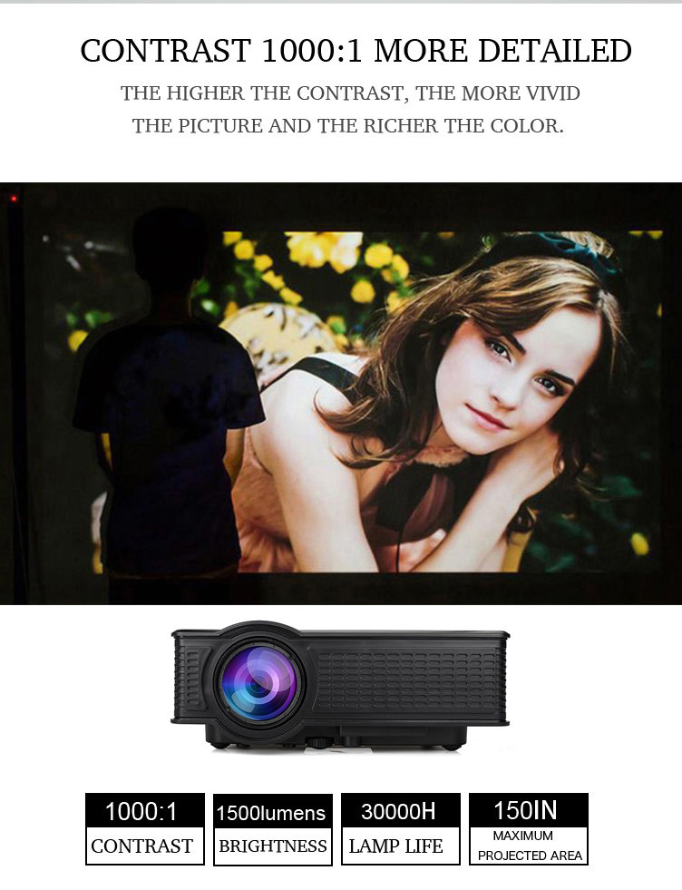 SD60 WIFI LED Projector for HomeSmall ClassroomMeeting Room