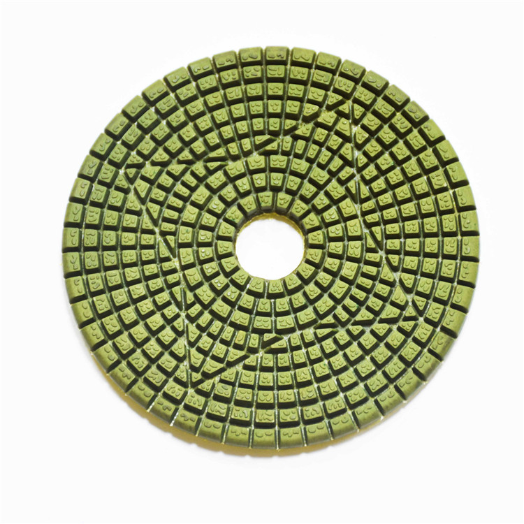 4 Inch Diamond Resin Granite Marble Wet Dry Flexible Polishing Pad for angle grinder