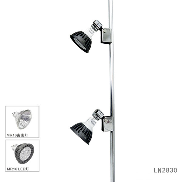 Recessed instal 2W3W led jewelry pole lights for cabinet