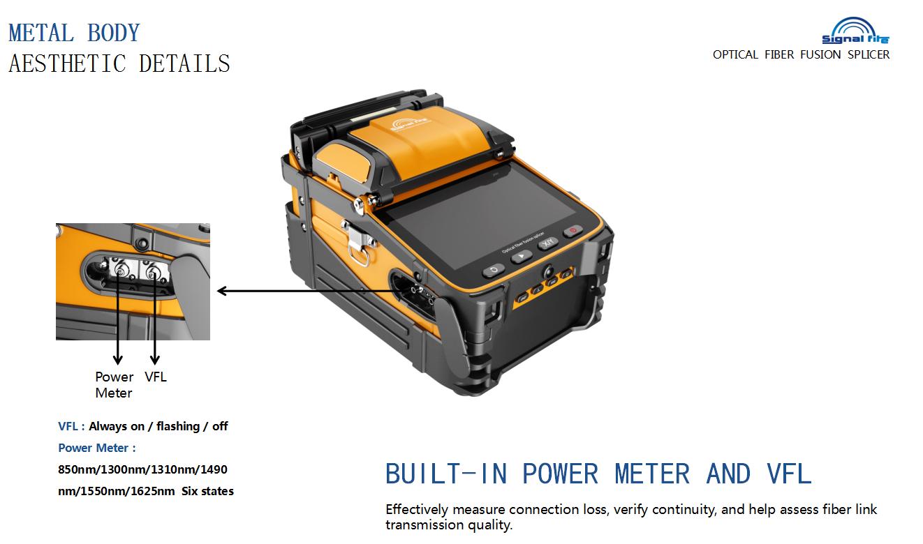 ARC fusion splicing machine with six motors Signal Fire AI9