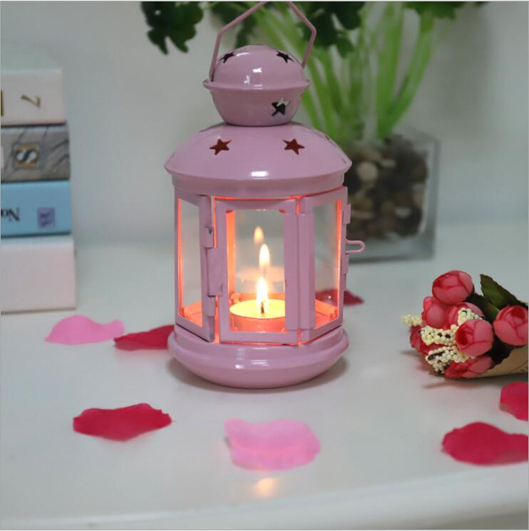 Portable Metal Hanging Lantern Iron Art Star Candle Lamp for FestivalChristmas Decoration