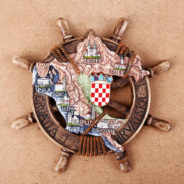 Resin coratia fridge magnet Cute Nautical Anchor souvenir Coratia Souvenir Gift Home Decoration
