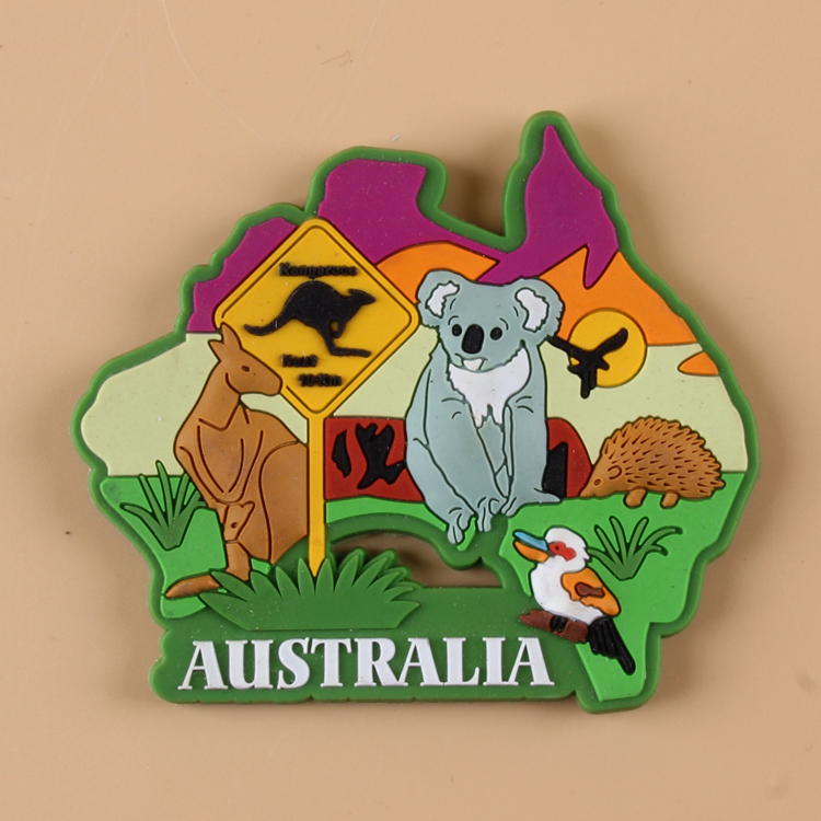 Soft PVC Fridge magnet Australia JapanEgypt Souvenir