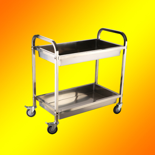 2 tier hand carts Tableware collection trolley