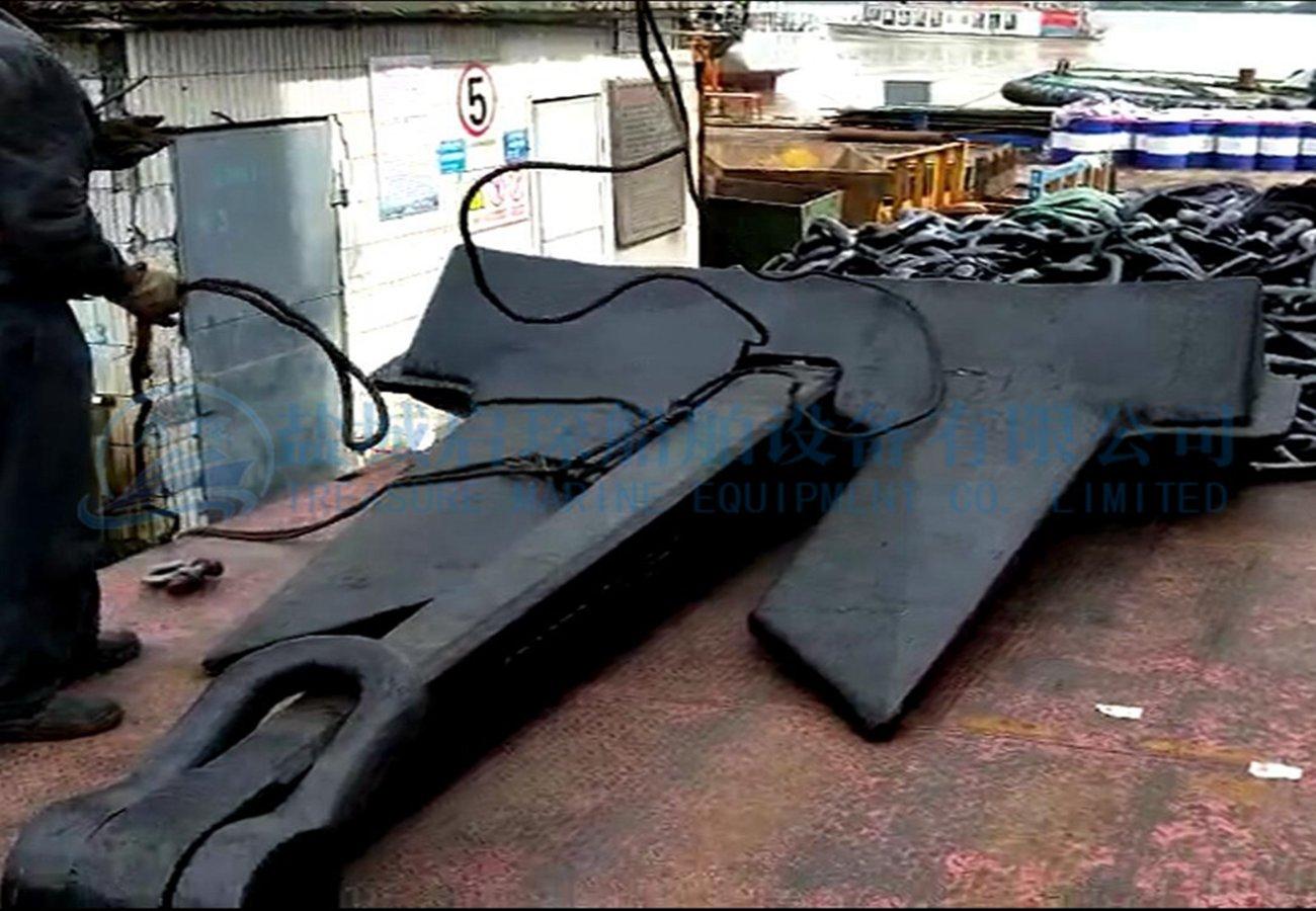 black printed steel marine boat anchor spek Anchor AC14 HHP anchor