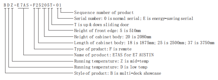 Supermarket DoubleTemperature Combine Cabinet
