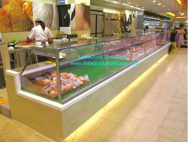 Commercial Glass Counter Display Showcase Refrigerator