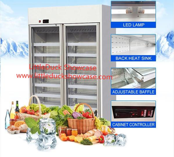 Convenient Store Supermarket Glassdoor Upright Chiller