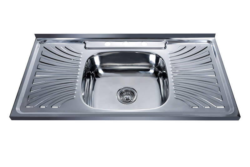 Costa Rica hot sale satin single bowl stainless steel sink 10050