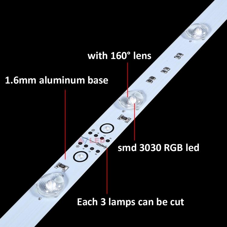Hot sales SMD 3030 12leds RGB rigid strip led backlight diffuse light bar for advertising led light box