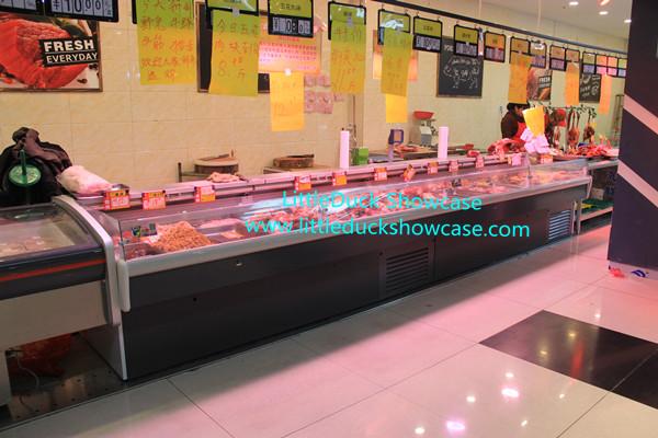 Supermarket Fresh meat Refrigerated Display Case