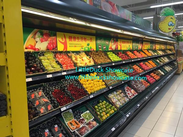 Supermarket Mart Fridge For Vegetables Fruits