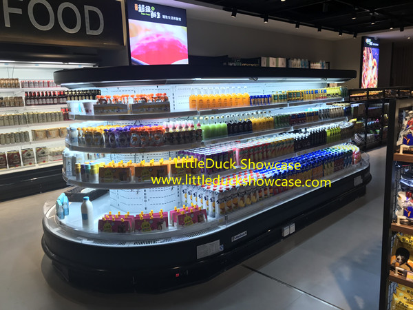 Supermarket Retail Island Refrigerated Display Cabinet