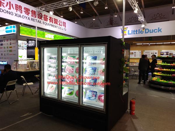 Supermarket Upright glass door freezer