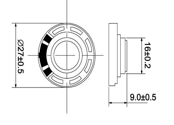 27 mm micro toy speaker manufacturer mylar speaker driver unit