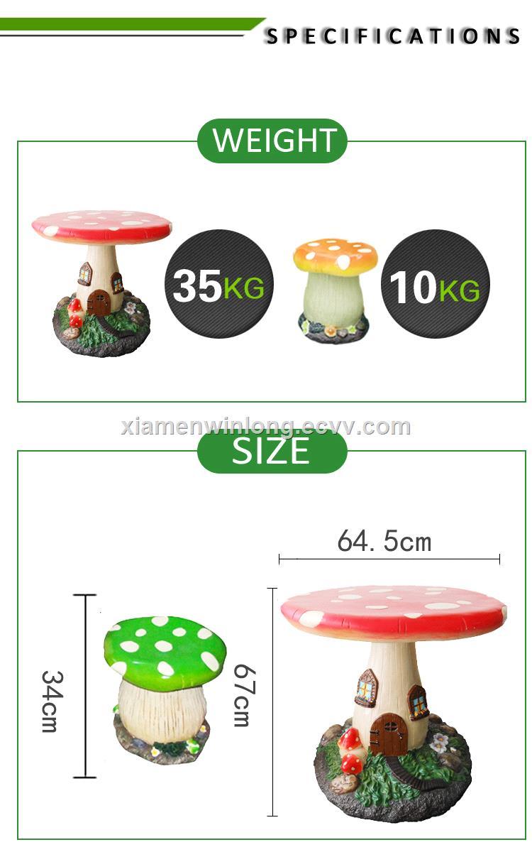 mushroom garden table set for outdoor