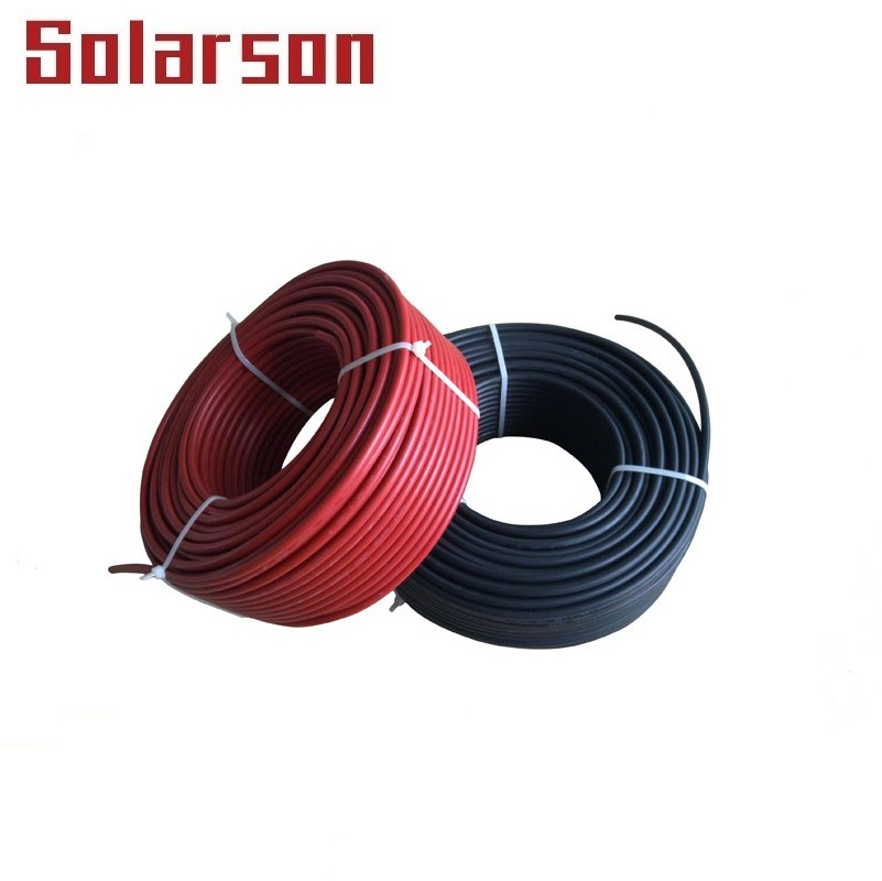 1000V DC TUV Waterproof UV Resistance XLPE Double Insulation 4mm 12AWG Solar PV Cable