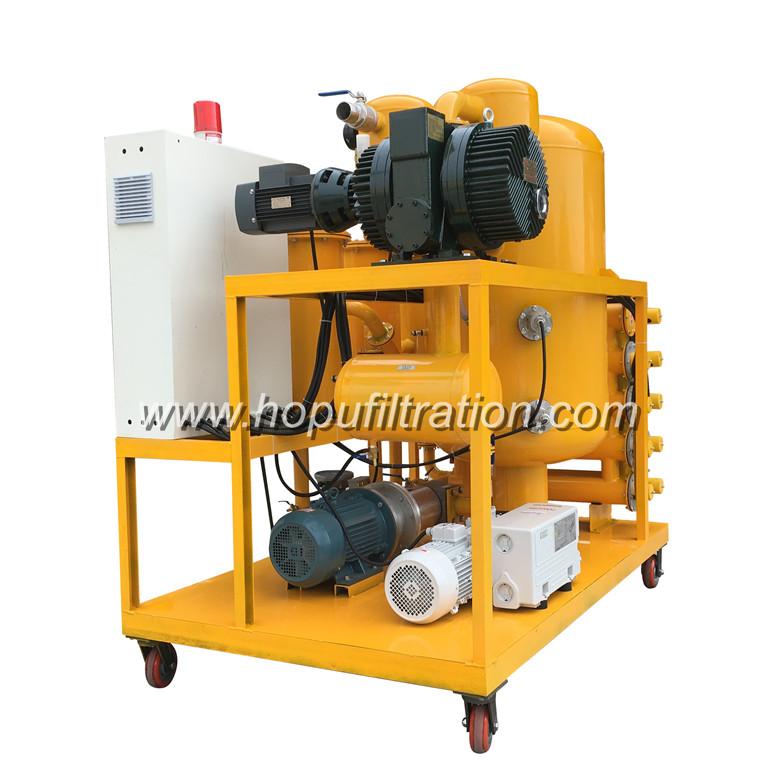 Vacuum Transformer Oil Purifier Degassing Machine Insulation Oil Refinery Treatment SystemOil Processor