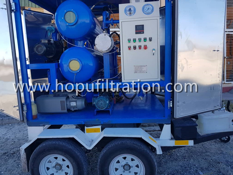 Fully enclosed trailer movable transformer oil processing and filtration machinerainproof easy to transport