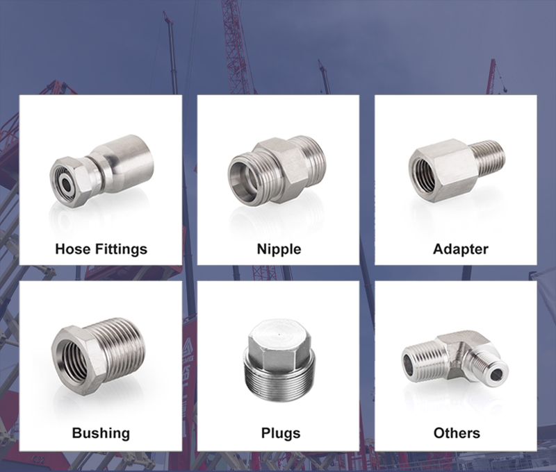 Nipple Quick coupling 1EW metric male oring butt weld tube fitting