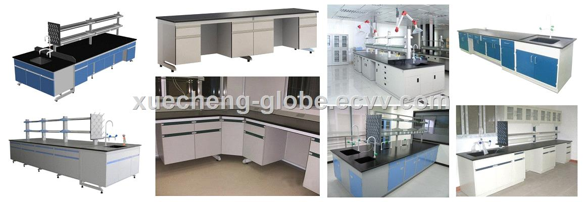 All Steel Central Bench 10 Feet Long Laboratory Central Table Lab Island Bench with CE certificate