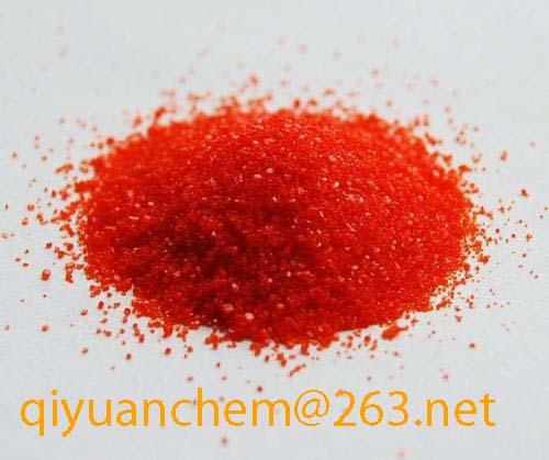 sodium dichromate Mainly used in the manufacture of chromium anhydride yellow pigments and other chromate salts