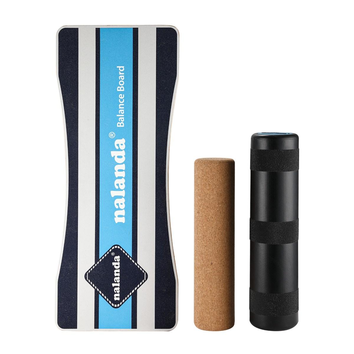 NALANDA Balance Board Stability Trainer Wooden Roller Board Anti Slip Roller for Fun Workout Training
