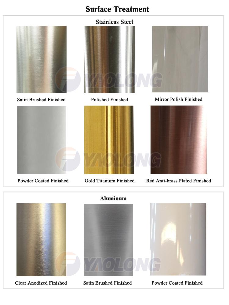 silver aluminum anodized spinning garden new design light pole road