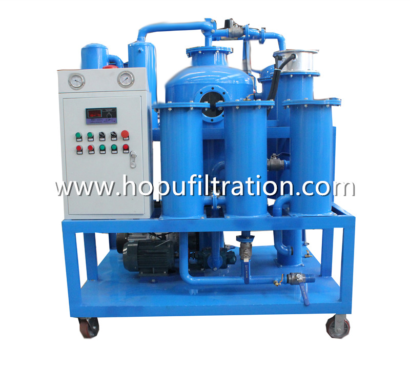 Dirty Hydraulic Oil Purifier and Cleaning EquipmentLube Oil filtration system with Vacuum DehydratorDegas
