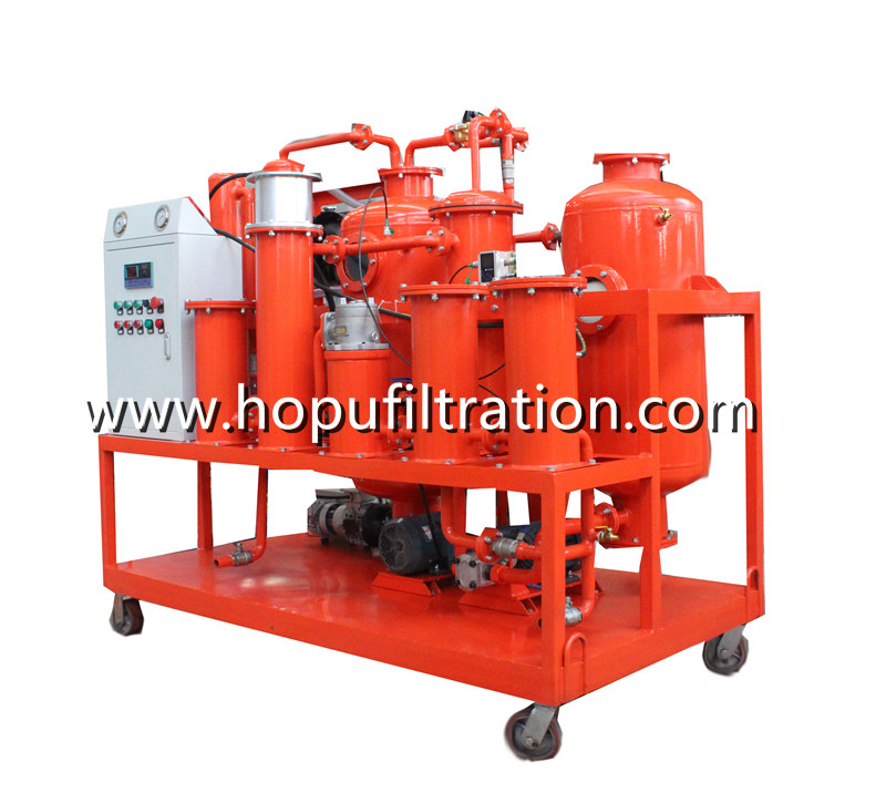 Vacuum Turbine Oil Purification Filtration Equipment lube oil purifier with online particle counter