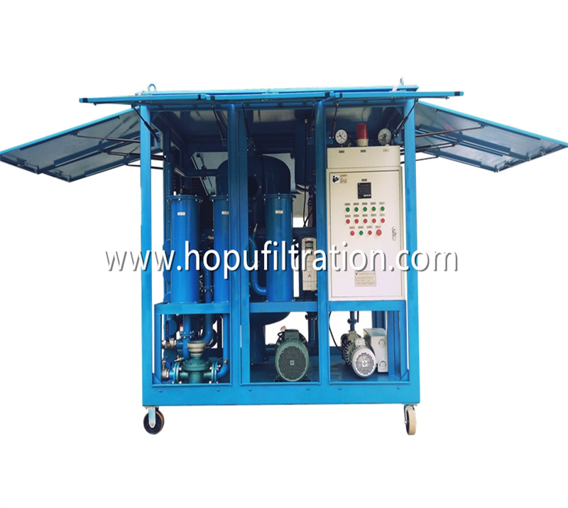 Fully Enclosed Type High Efficiency Vacuum Transformer Oil Filtration Machine for Power Plant Maintenance
