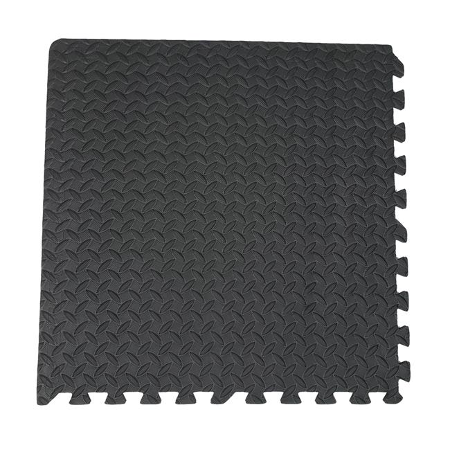 QT MAT Nontoxic Odorless Formamide Below 200PPM 24in x 24in 4pcsset EVA Foam Leaf Texture Interlocking Gym Puzzle Exe