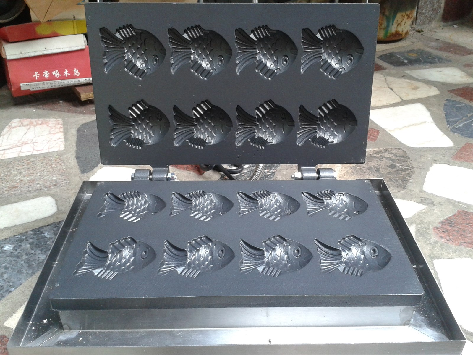 electric Mini 8 pcs Korean fish cake machine small taiyaki maker