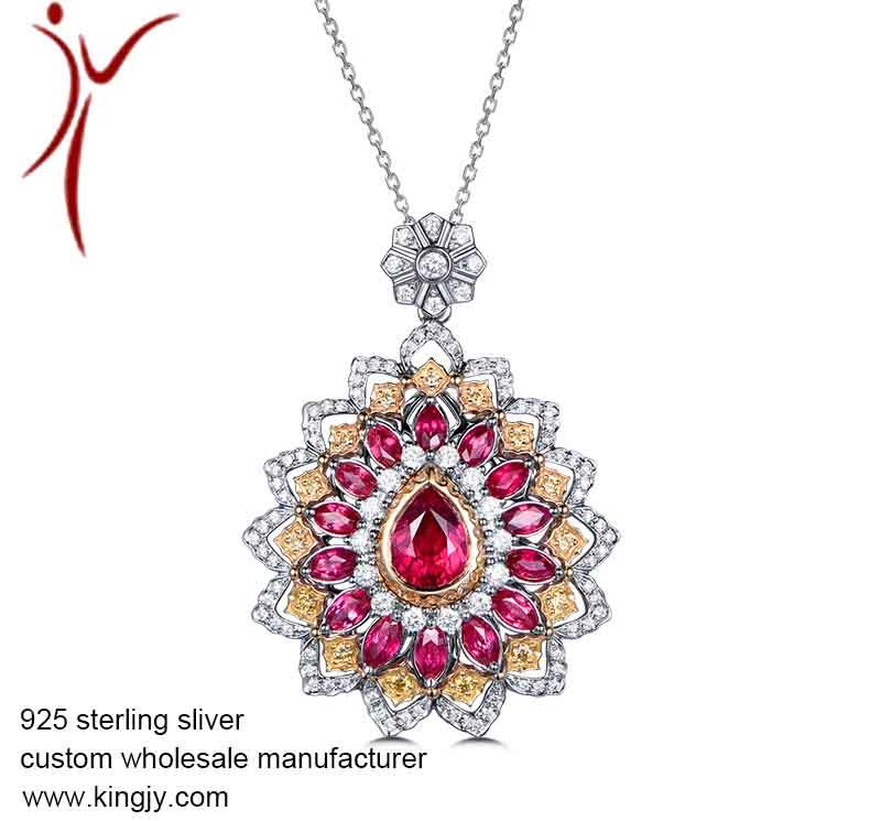 925 silver jewelry necklace earrings bracelet ring custom wholesale